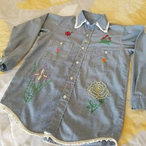 Vintage Hand Embroidered Shirt